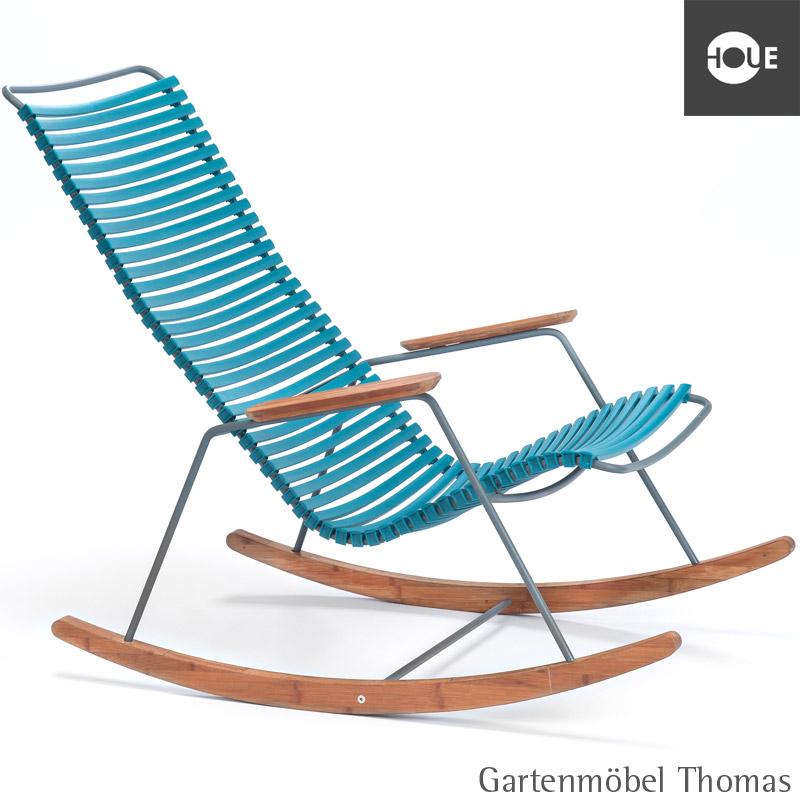 Gartenmöbel Thomas | HOUE Click Schaukelstuhl Petrol - Gestell ...