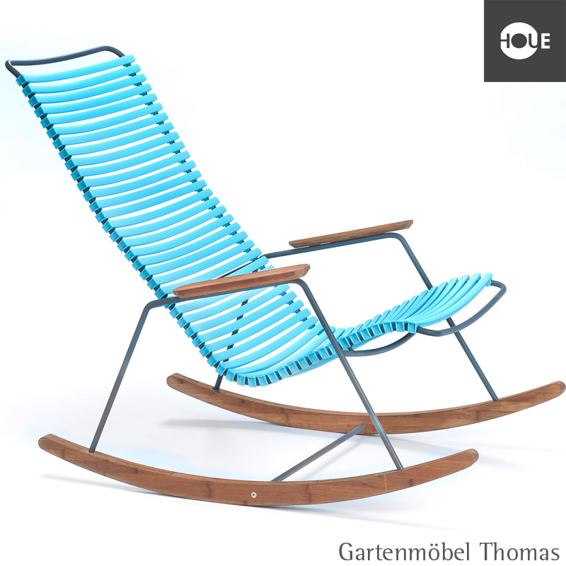 Gartenmöbel Thomas | HOUE Click Schaukelstuhl Türkis - Gestell ...