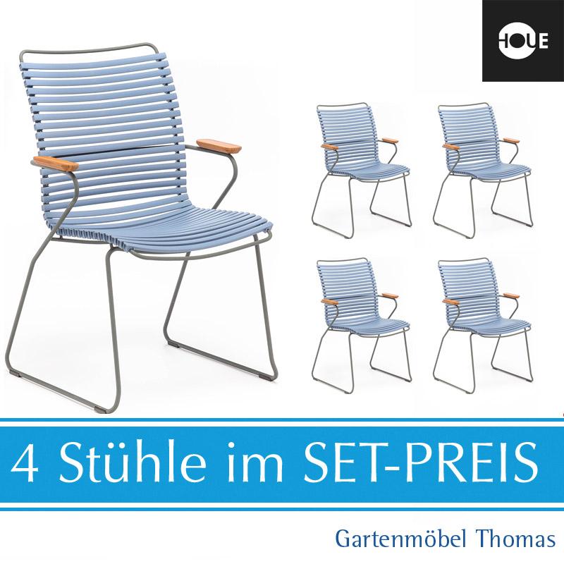 Gartenmöbel Thomas | HOUE Click SET - 4 Hochlehner Graublau | hier ...