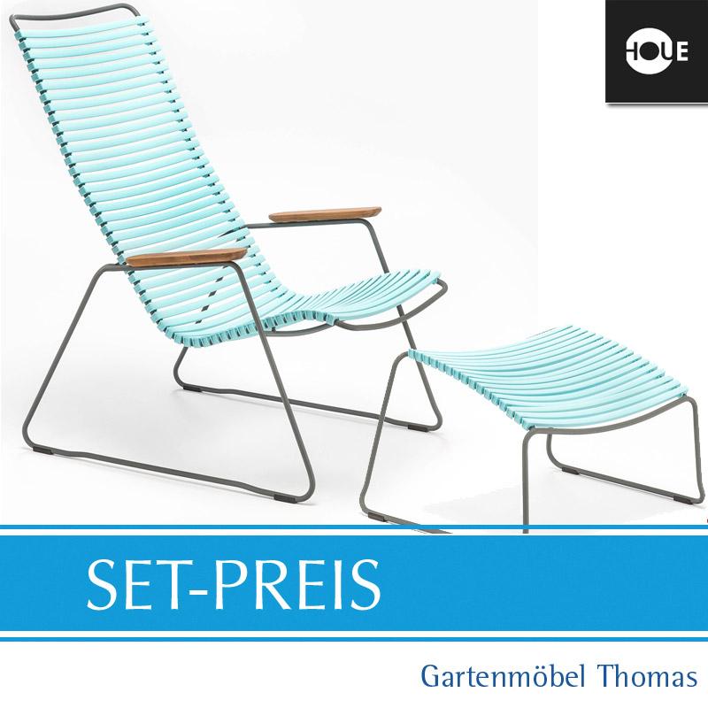 Gartenmöbel Thomas   HOUE Click SET - Relaxsessel / Hocker Mint ...