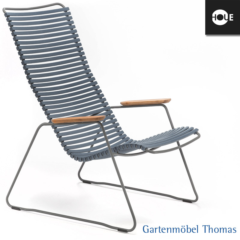 gartenm bel thomas houe click relaxsessel dunkelgrau gestell metall graphit lounge chair. Black Bedroom Furniture Sets. Home Design Ideas
