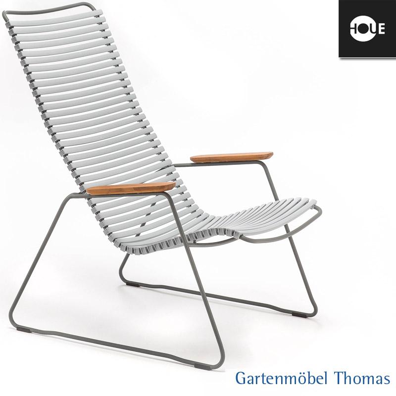 Gartenmöbel Thomas | HOUE Click Relaxsessel Grau - Gestell Metall ...