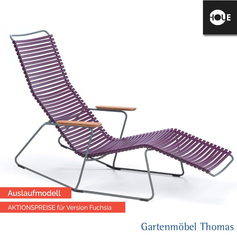 Gartenmöbel Thomas | HOUE Click Relaxliege Dunkelviolette - Gestell ...