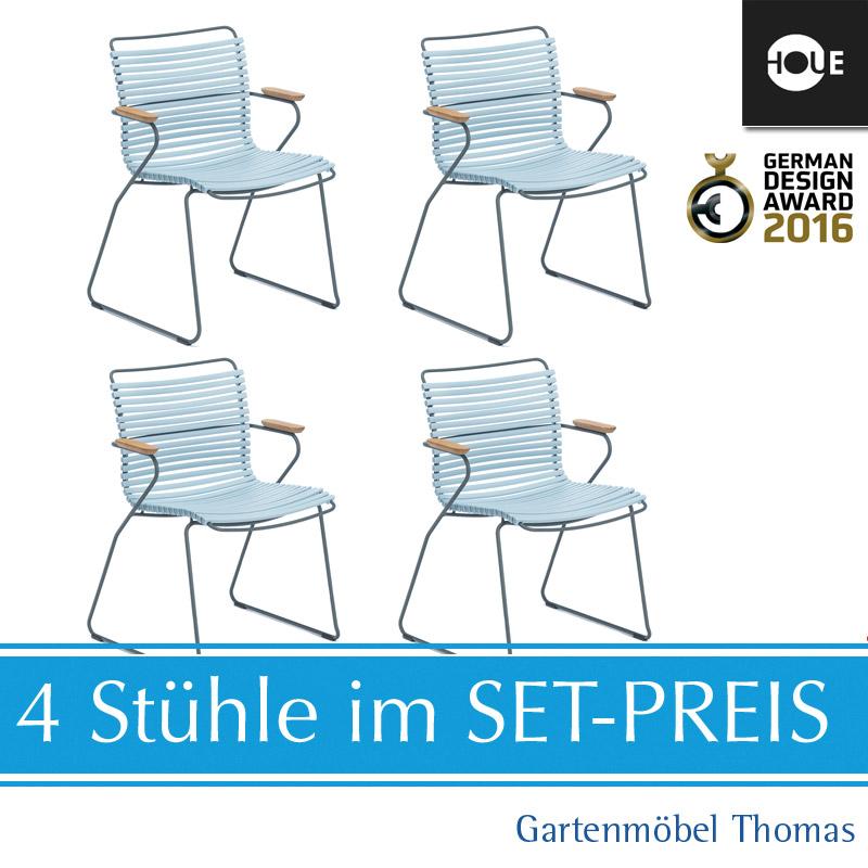 Gartenmöbel Thomas | HOUE Click SET - 4 Sessel Hellblau | hier ...