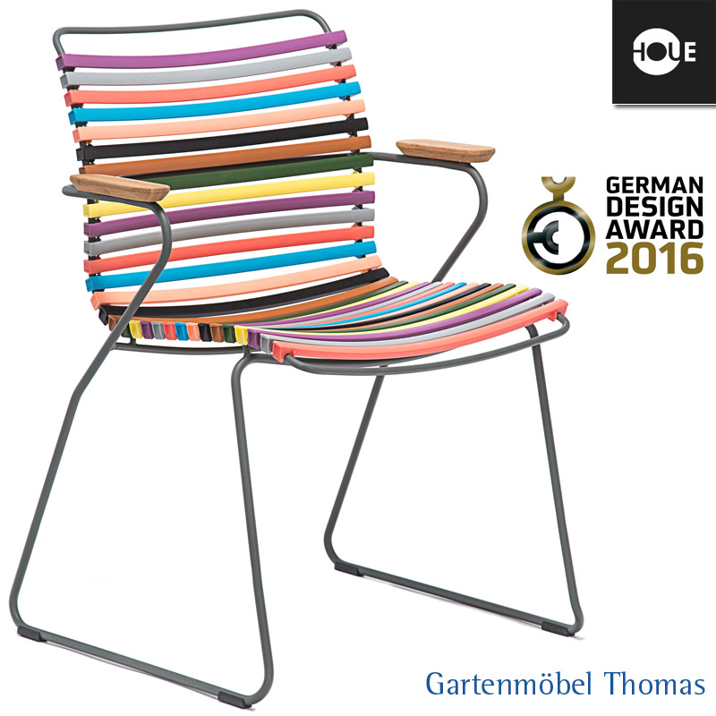 gartenm bel thomas houe click sessel multicolor i gestell metall graphit click dining. Black Bedroom Furniture Sets. Home Design Ideas