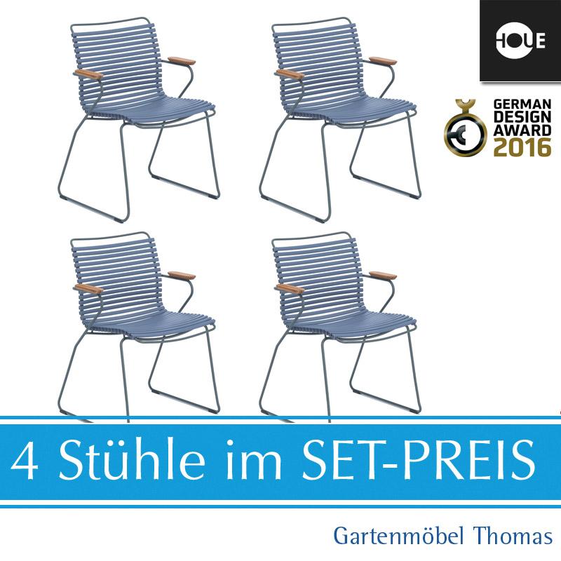 Houe Click Set 4 Sessel Blau Grau Online Kaufen Gartenmobel Thomas