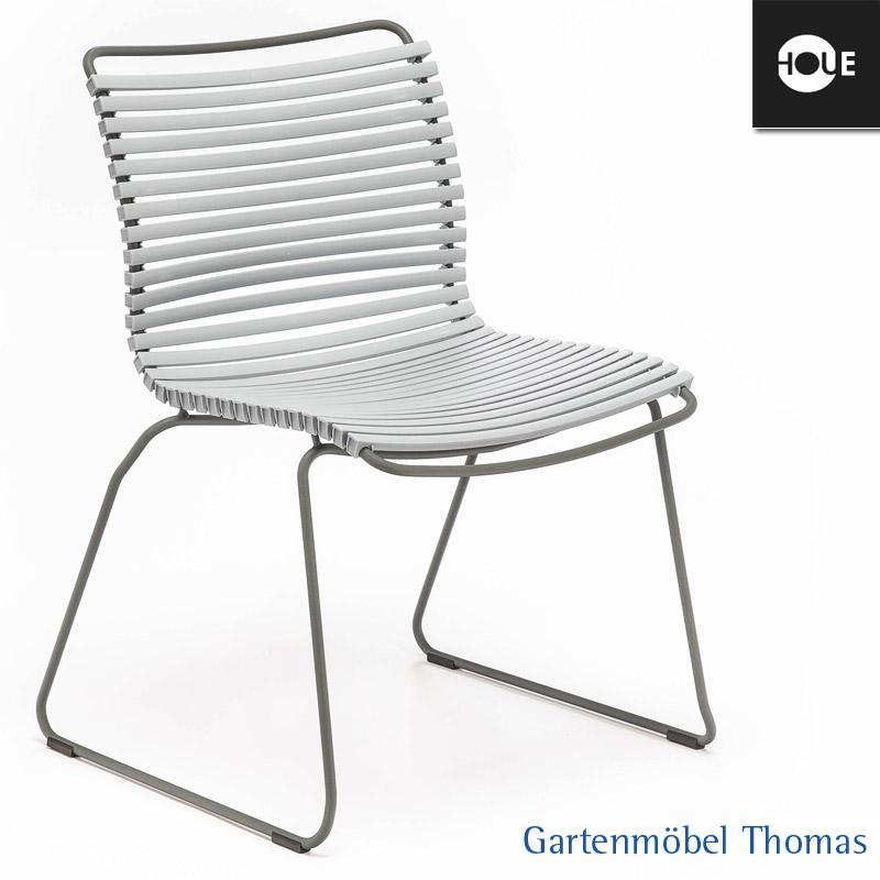 gartenm bel thomas houe click stuhl grau gestell metall graphit dining no armrest hier. Black Bedroom Furniture Sets. Home Design Ideas