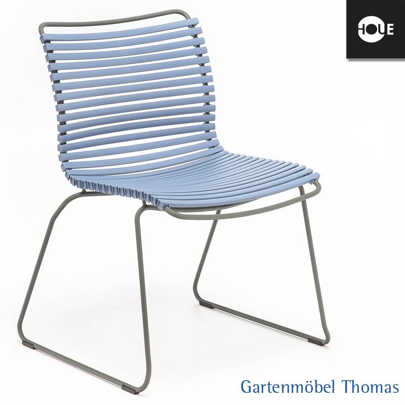 gartenm bel thomas houe click stuhl graublau gestell metall graphit dining no armrest. Black Bedroom Furniture Sets. Home Design Ideas