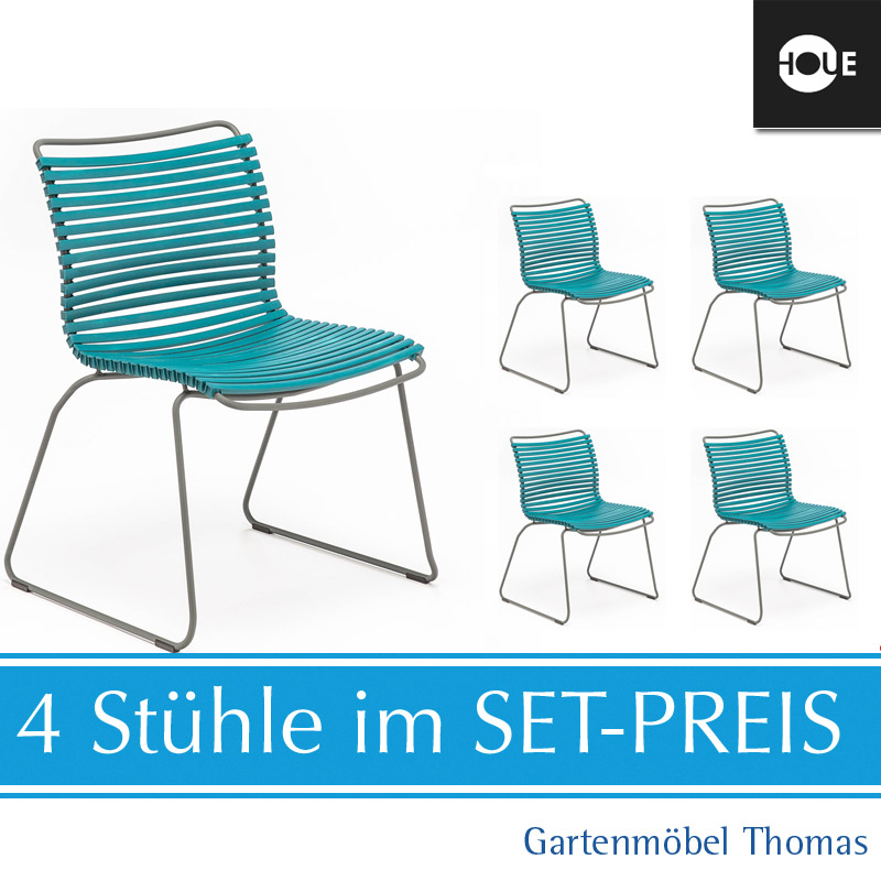Gartenmöbel Thomas | HOUE Click SET - 4 Stühle Petrol | hier online ...