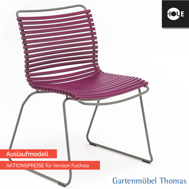 gartenm bel thomas houe click stuhl dunkelviolett gestell metall graphit dining no armrest. Black Bedroom Furniture Sets. Home Design Ideas