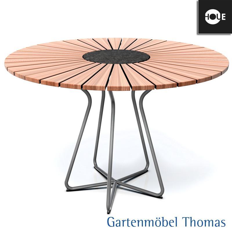 Tisch 110 Cm.Houe Tisch Circle Dining Rund 110cm Gestell Aluminium Tischplatte Bambus
