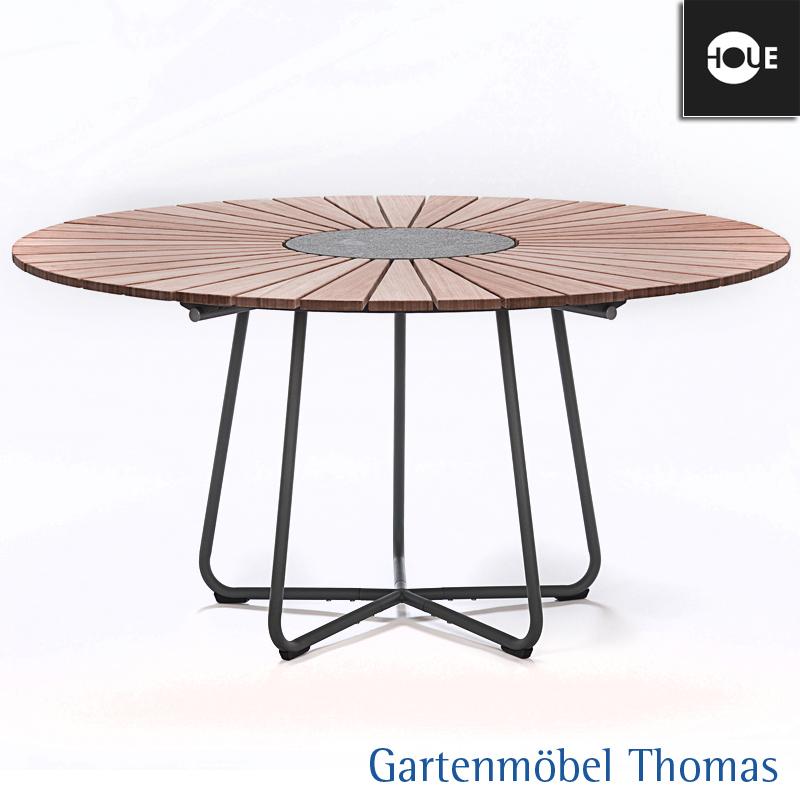 Houe Circle Dining Gartentisch 150cm Rund Gestell Aluminium Tischplatte Bambus Online Kaufen Gartenmobel Thomas