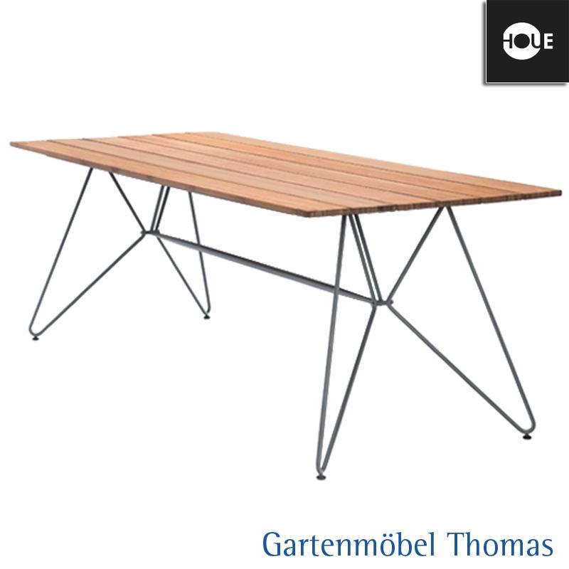 Houe Tisch Sketch Dining 220x88 Gestell Metall Tischplatte Bambus