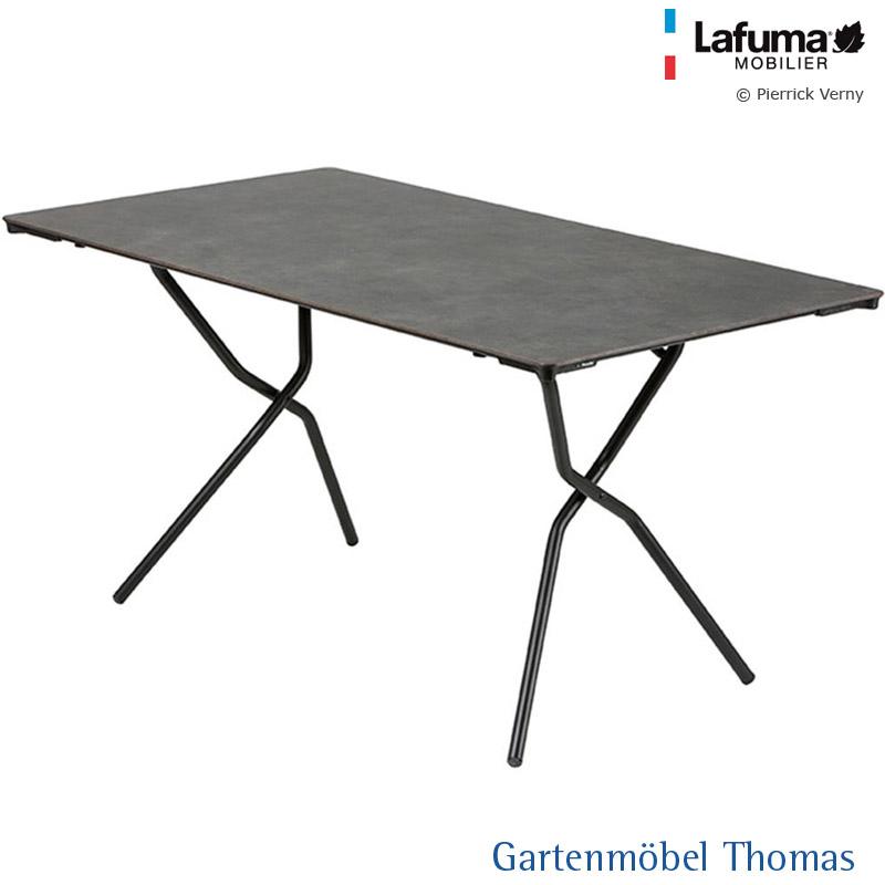 Gartenmöbel Thomas   Lafuma ANYTIME Tisch 140x80cm Alu-Titan / HPL ...