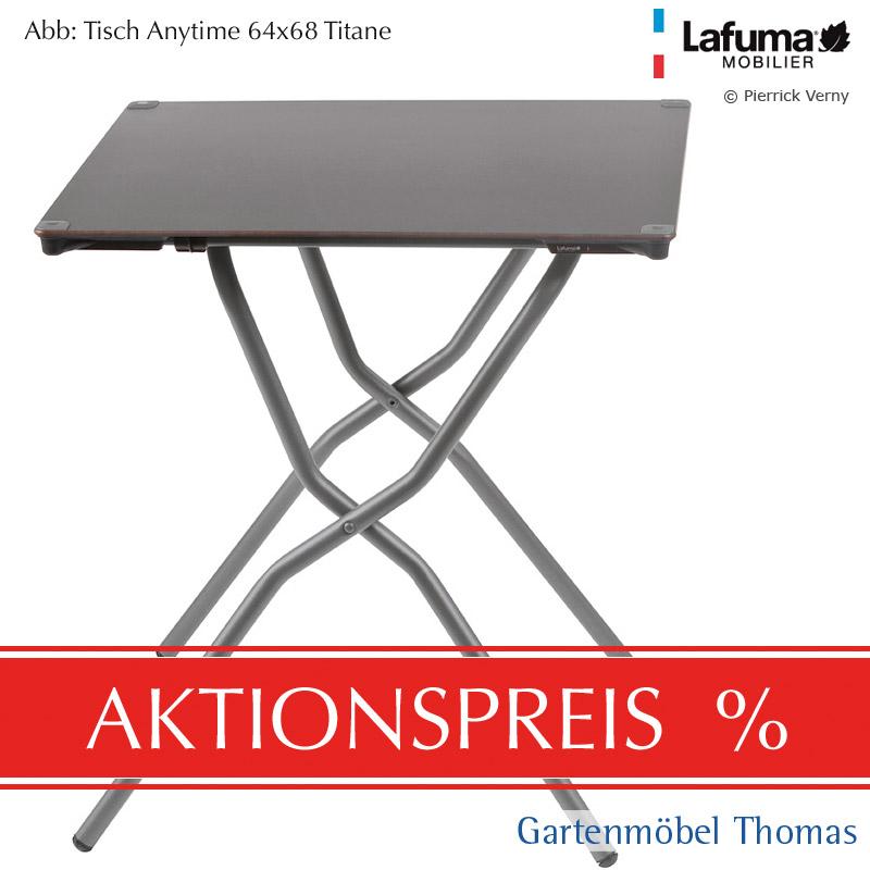 Gartenmöbel Thomas | Lafuma ANYTIME Tisch 68x64cm Alu-Titan / HPL ...