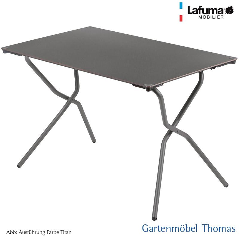 Gartenmöbel Thomas | Lafuma ANYTIME Tisch 110x68cm Alu-Titan / HPL ...