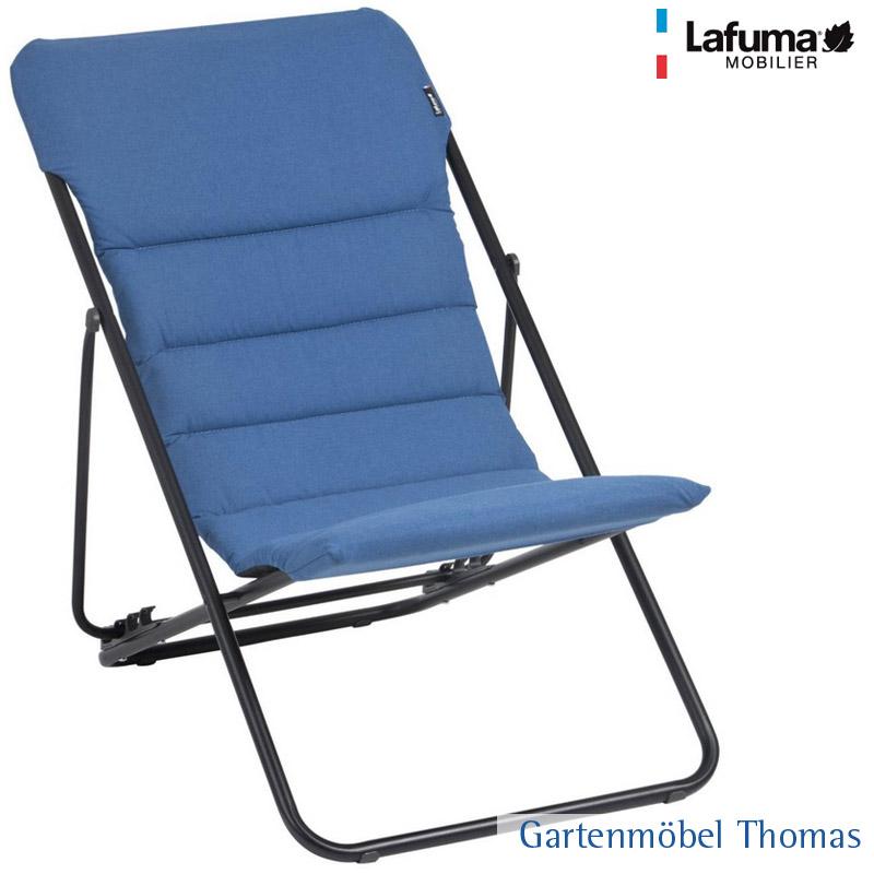 Gartenmöbel Thomas | Lafuma MAXI TRANSAT Relaxsessel Alu Schwarz ...