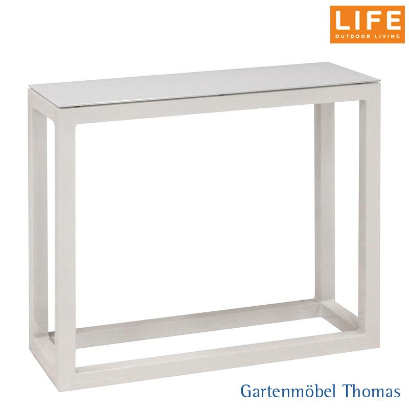 Life Fabri Lounge Sideboard Hoch 81 5x29x71cm Alu Weiss