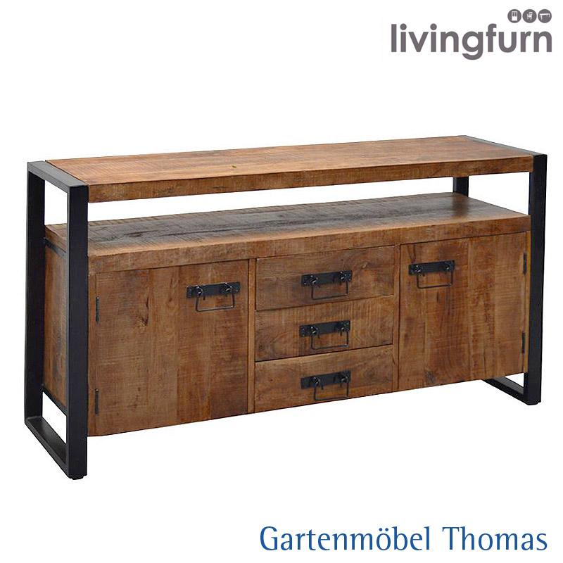 Livingfurn Strong Sideboard 145x43x80cm Teakholz Online Kaufen