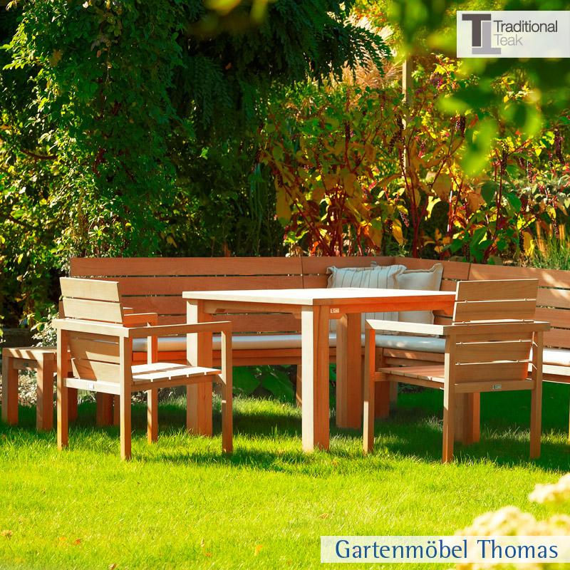 gartenm bel thomas traditional teak maxima eckbank teakholz hier online kaufen. Black Bedroom Furniture Sets. Home Design Ideas