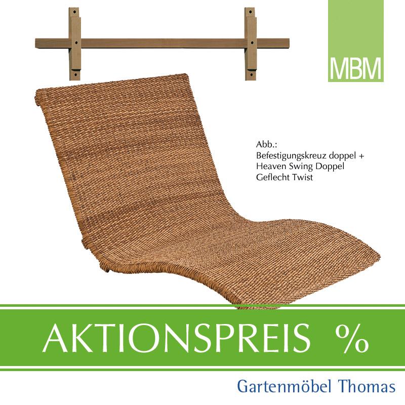 Gartenmöbel Thomas | MBM HEAVEN SWING SET Liege Doppel Twist + Kreuz ...