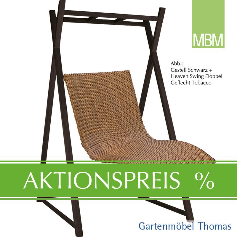 Gartenmöbel Thomas | MBM HEAVEN SWING SET Liege Doppel Tobacco + ...