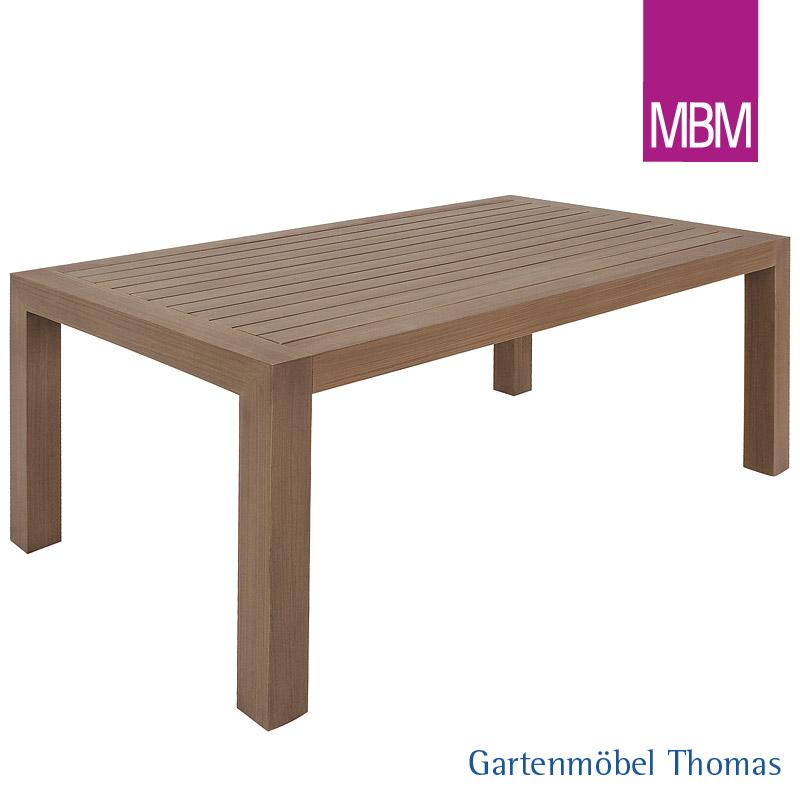 Gartenmöbel Thomas | MBM MADRIGAL Tisch 100x220 Burma Resysta | hier ...