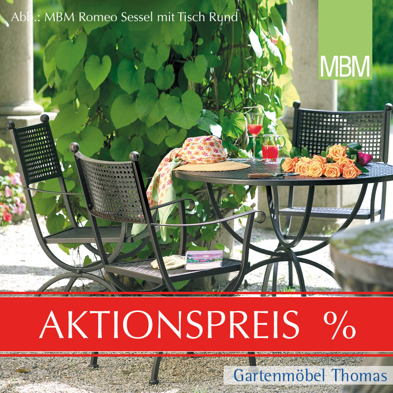 mbm romeo tisch rund 100cm onine kaufen gartenm bel thomas. Black Bedroom Furniture Sets. Home Design Ideas
