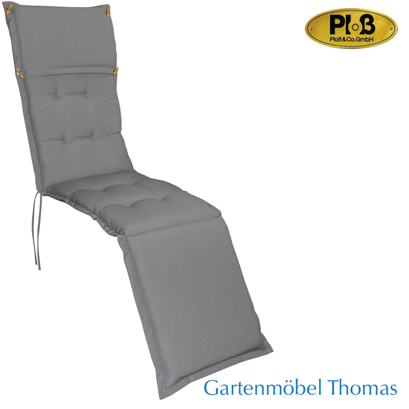 gartenm bel thomas plo kissen polsterauflage deckchair 189x44x8 farbe hellgrau hier online. Black Bedroom Furniture Sets. Home Design Ideas