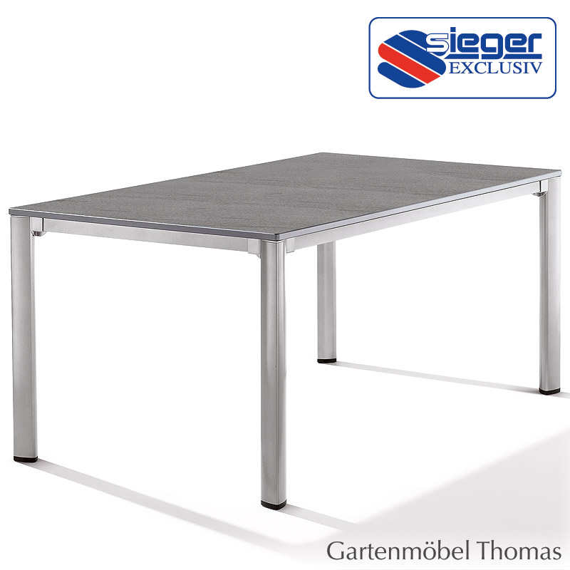 gartenm bel thomas sieger tisch 165x95 alu graphit. Black Bedroom Furniture Sets. Home Design Ideas