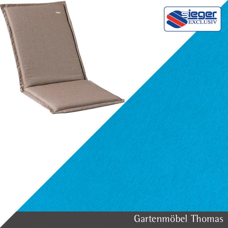Gartenmöbel Thomas | Sieger Auflage Hochlehner Türkis 124x53x4cm ...