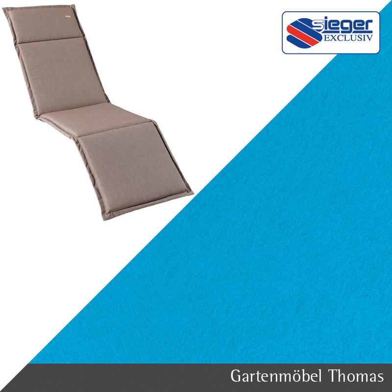 Gartenmöbel Thomas | Sieger Auflage Relax Türkis 169x53x4cm | hier ...