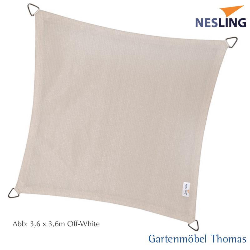 gartenm bel thomas nesling sonnensegel coolfit quadrat 5x5m farbe off white hier online kaufen. Black Bedroom Furniture Sets. Home Design Ideas