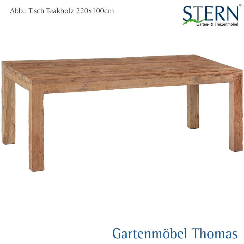 Stern Tisch 220x100cm Old Teakholz