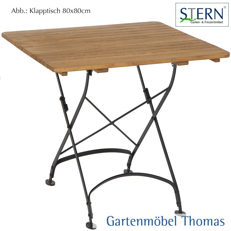 Gartenmöbel Thomas | Stern CAMARGUE Klapptisch 80x80 Stahl Schwarz ...