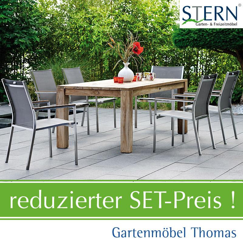 Gartenmöbel Thomas   Stern CARDIFF GRUPPE 6 Sessel + 1 Tisch Old ...