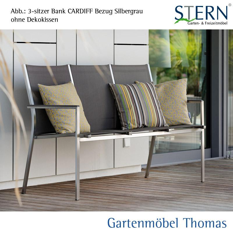 Gartenmöbel Thomas   Stern CARDIFF Bank Edelstahl - Bezug ...