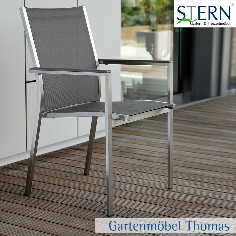 Gartenmöbel Thomas   Stern CARDIFF Stapelsessel Edelstahl - Bezug ...