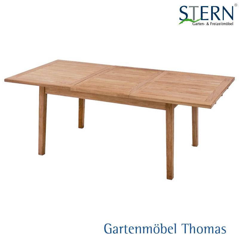 Gartenmöbel Thomas | Stern AUSZIEHTISCH 150-210x100cm - Teakholz FSC ...