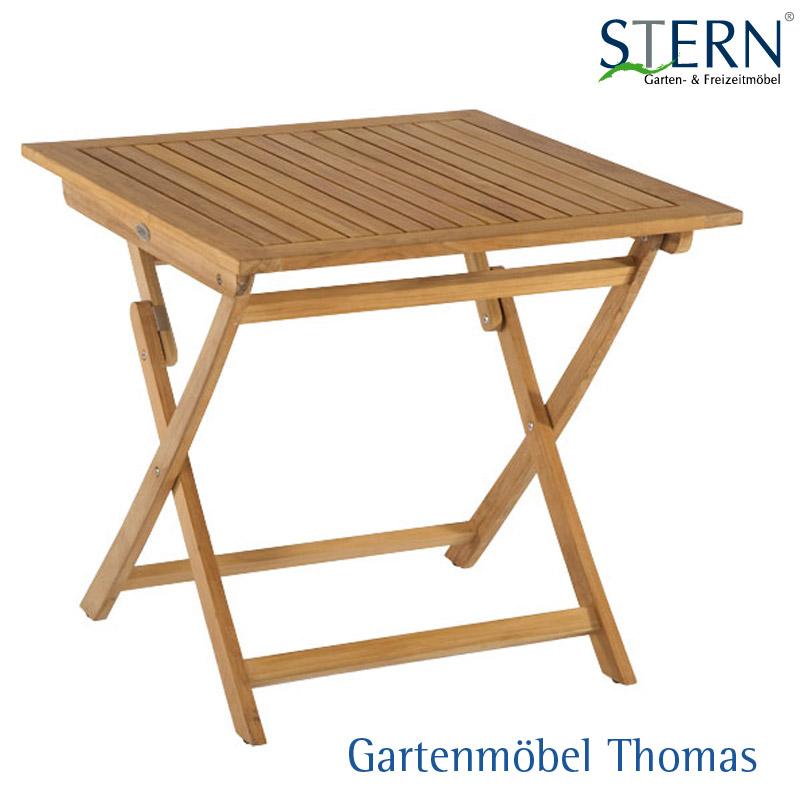 Gartenmöbel Thomas | Stern KLAPPTISCH 80x80cm - Teakholz FSC | hier ...