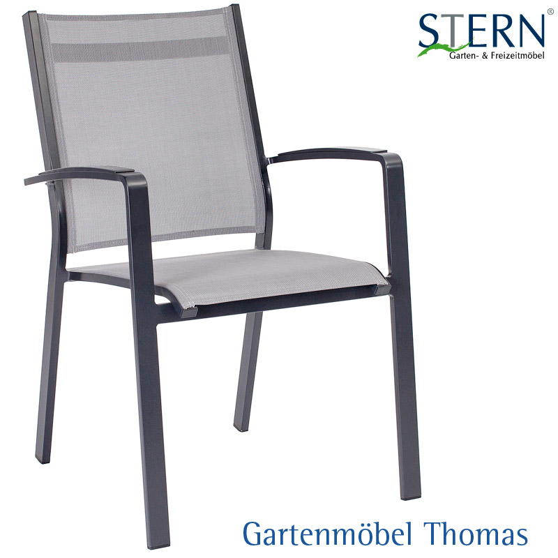 stern olivo sessel alu anthrazit textilene silbergrau online kaufen gartenm bel thomas. Black Bedroom Furniture Sets. Home Design Ideas