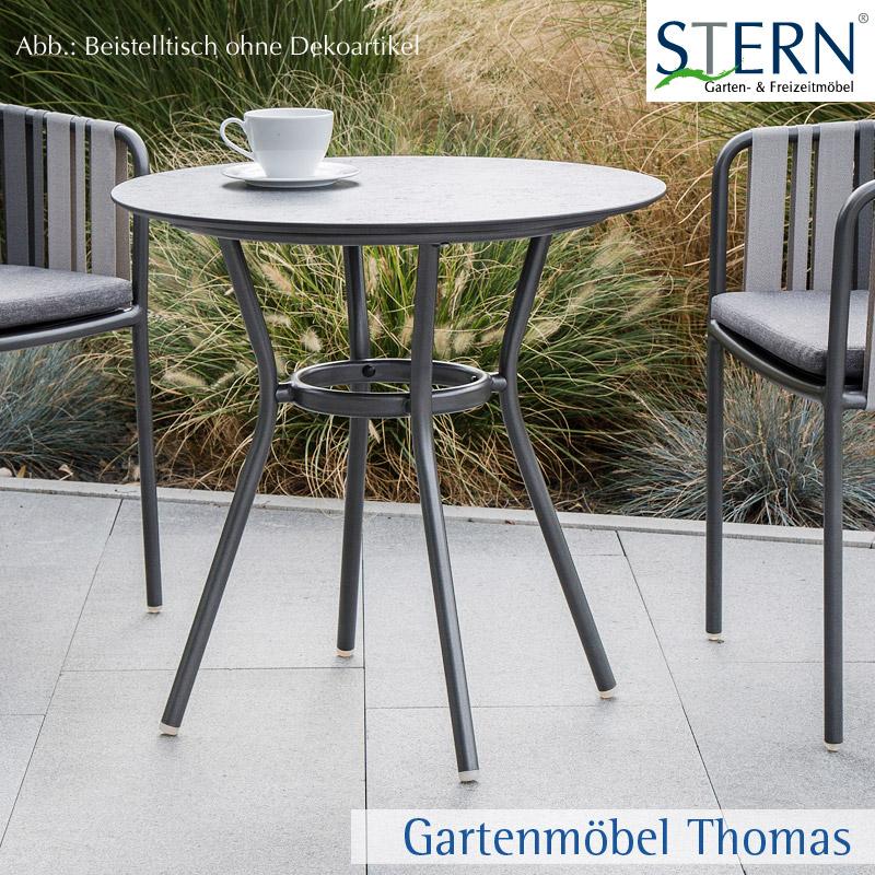 Gartenm bel thomas stern space beistelltisch 68cm rund for Beistelltisch vintage grau