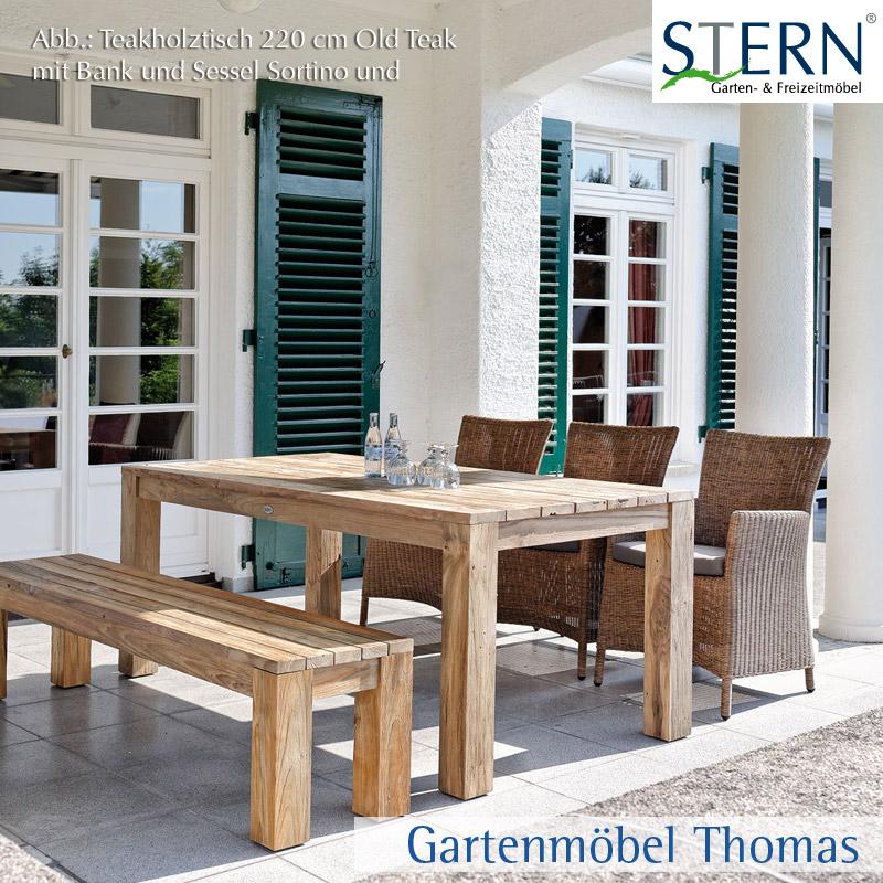 stern tisch 300x120cm old teakholz online kaufen gartenm bel thomas. Black Bedroom Furniture Sets. Home Design Ideas