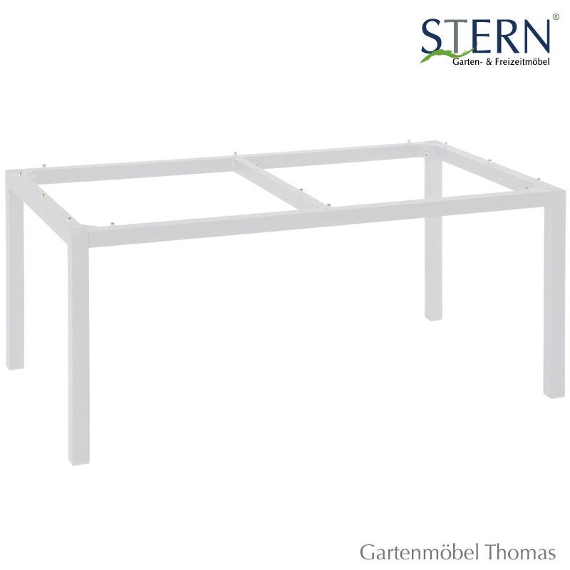 gartenm bel thomas stern tischgestell 200x100cm alu wei hier online kaufen. Black Bedroom Furniture Sets. Home Design Ideas