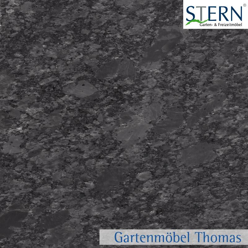 Stern Tischplatte 90x90cm Granit Eisengrau Geschliffen