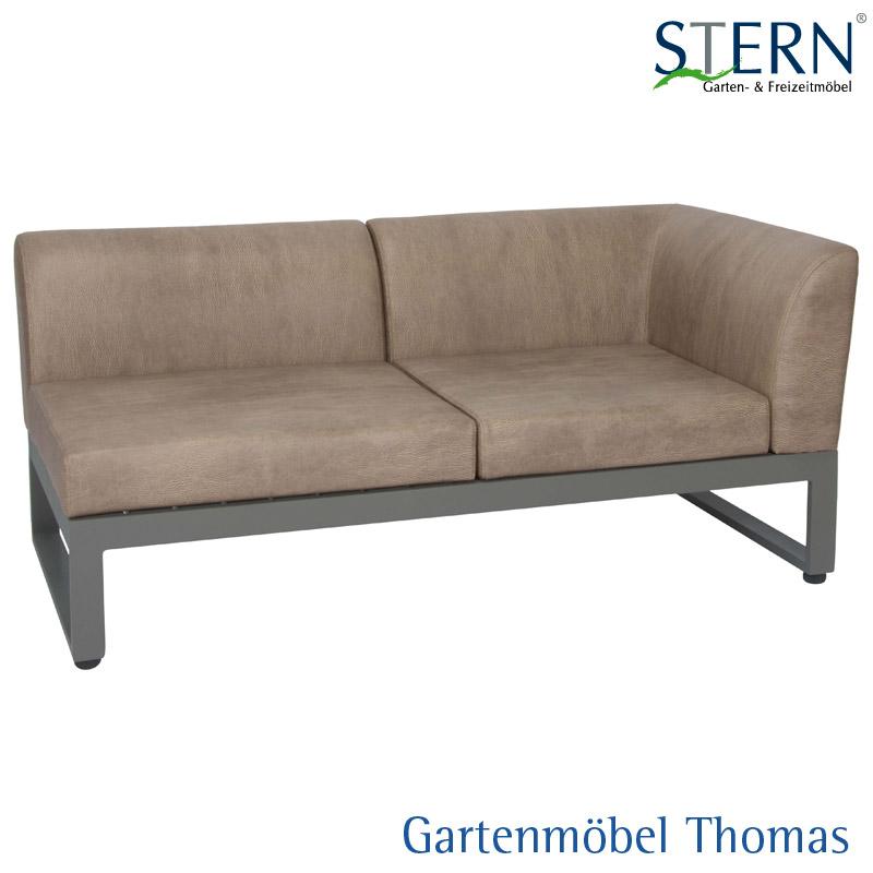 Gartenmöbel Thomas | Stern ARTURO 2-Sitzer Lounge links Alu Taupe ...