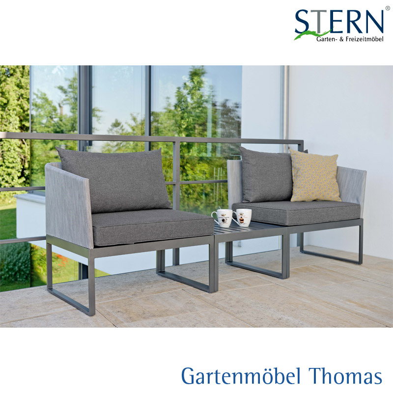 Gartenmöbel Thomas | Stern DONNA City-Lounge Alu Anthrazit - Bezug ...