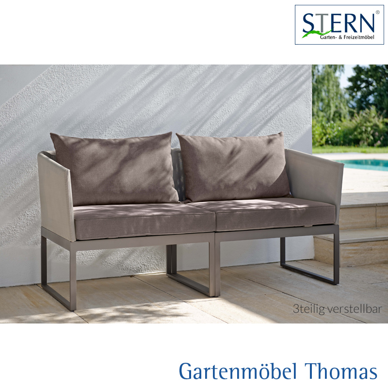 gartenm bel thomas stern donna city lounge alu taupe. Black Bedroom Furniture Sets. Home Design Ideas