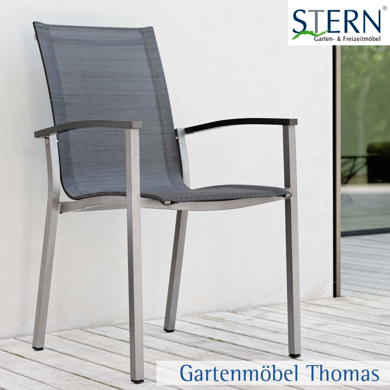Gartenmöbel Thomas | Stern EVOEE Stapelsessel Alu Graphit - Bezug ...