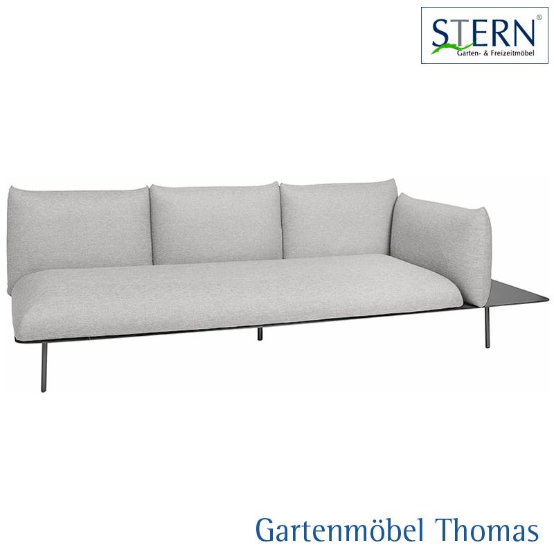 Gartenmöbel Thomas | Stern GOA 3-Sitzer Lounge links Alu Anthrzait ...